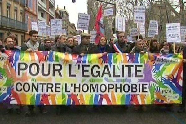 Manifestation contre l'homophobie en Aquitaine