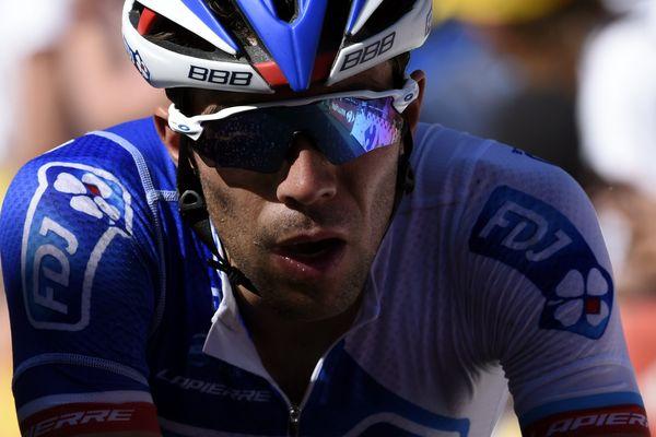 Thibaut Pinot à l'arrivée du Tour de France 2017 à la Planche des Belles Filles en Haute-Saône