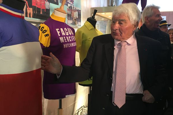 Raymond Poulidor était présent samedi pour l'inauguration de l'exposition.