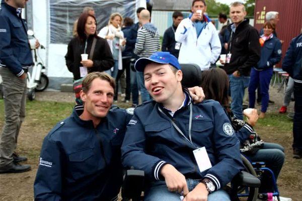 Thibaut avec Kevin Staut, champion olympique de saut d'obstacles à Rio