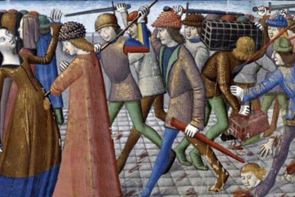 """La sanglante révolte des """"Cabochiens"""" à Paris."""