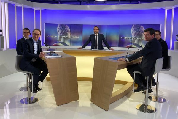 Le débat organisé par France 3 Champagne-Ardenne sur les élections municipales 2020 à Châlons-en-Champagne