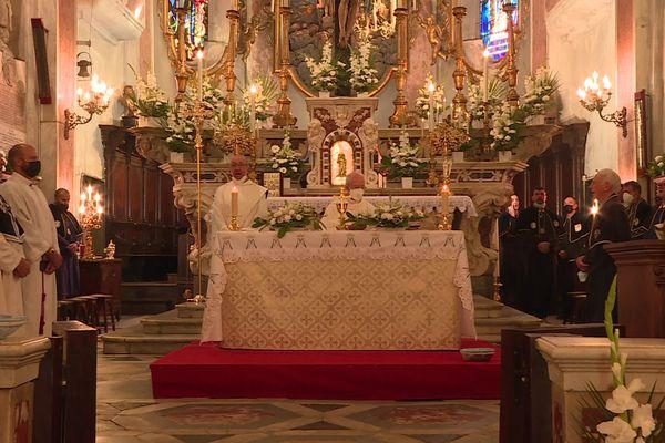 Des messes sont organisées pour fêter l'Assomption en Corse, ce 15 août, comme ici, à la cathédrale Sainte-Marie de Bastia.
