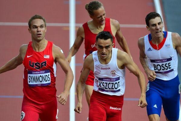 Pierre-Antoine Bosse sur le 800m qualificatif pour la demi-finale à Londres, le 06 août 2012