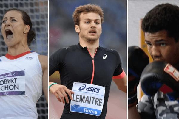 Mélina Robert-Michon, Christophe Lemaître et Paul Omba-Biongolo