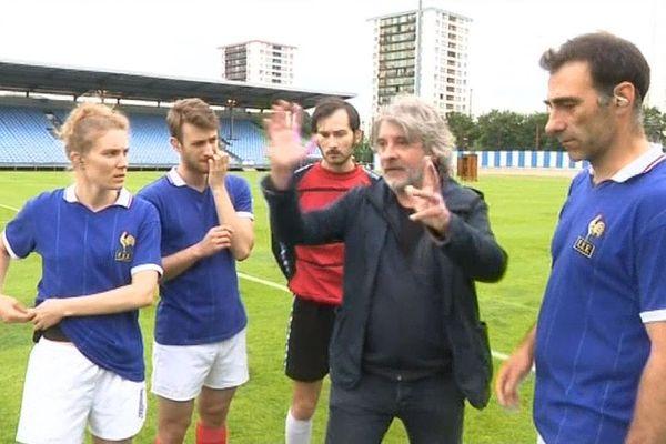 Massimo Furlan en répétition avec ses joueurs