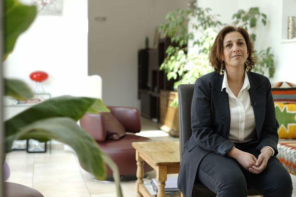 Sarah Daboussi, chez elle, dans les environs de Reims