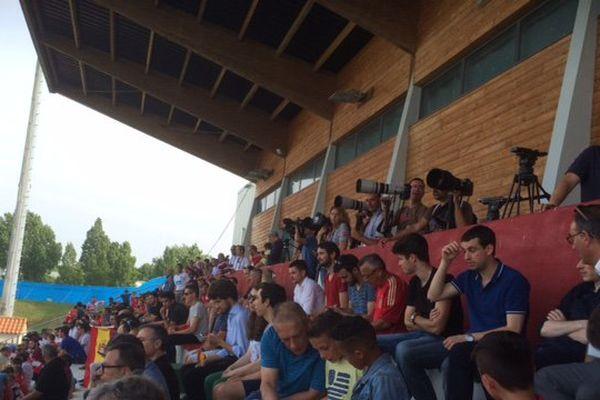 Le public venu voir la Roja à l'entraînement le 9 juin dernier