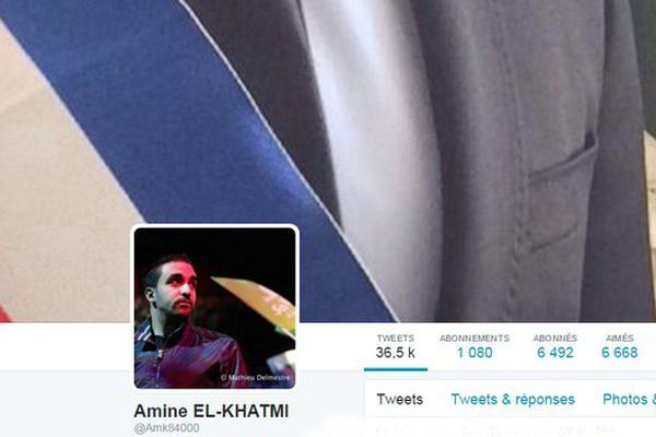 Le profil Twitter d'Amine El-Khatmi.