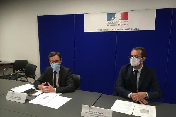 Le préfet des Pyrénées-Orientales et le directeur départemental de l'ARS ont fait le point sur la situation sanitaire.