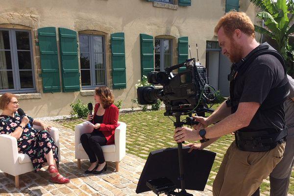 France 3 Pays de la Loire en tournage au musée Clemenceau-de Lattre, le 8 juin 2018