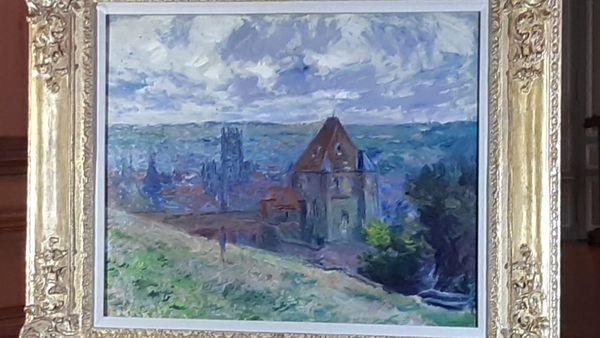 Scannée en 5D, cette toile de Claude Monet est en très bon état.