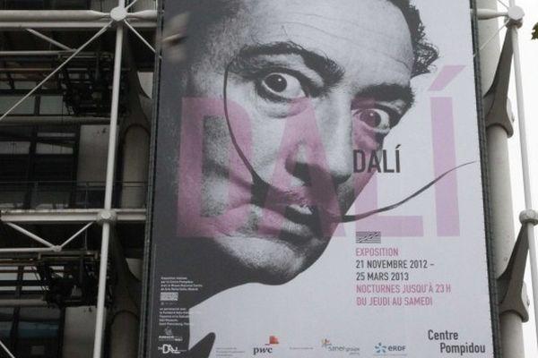 L'exposition Salvador Dali au Centre Pompidou du 21 novembre 2012 au 25 mars 2013.