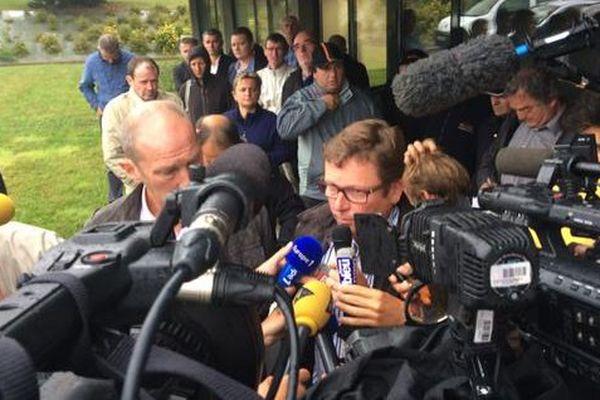Daniel Picart annonce l'annulation d'une séance de cotation au MPB (Marché du Porc Breton), à Plérin (22). C'est la troisième fois cette semaine.