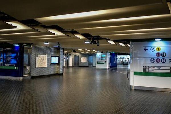 La station de métro Châtelet Les Halles.[© STEPHANE DE SAKUTIN / AFP]