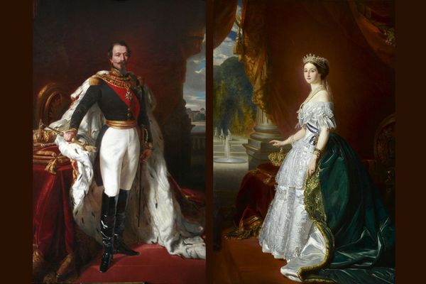 Le couple impérial : Napoléon III et l'Impératrice Eugénie