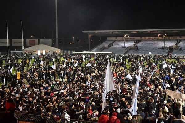 Le Stade Yves-du-Manoir après un match du rugby du Racing 92