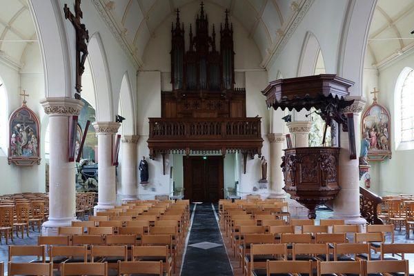 L'intérieur de l'église Saint-Martin