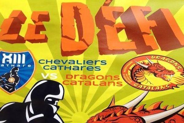 Les Chevaliers Cathares à l'assaut des Dragons Catalans demain à 16 h 30 à Carcassonne