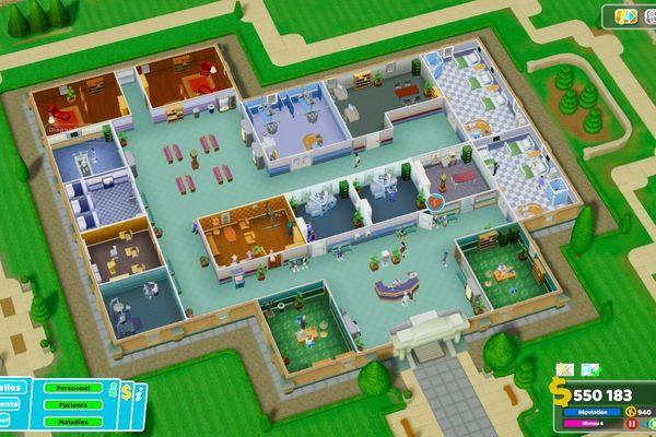 Le jeu vous demande de gérer un hôpital, avec des ressemblances troublantes avec la situation actuelle. Mais rien de stressant ici!