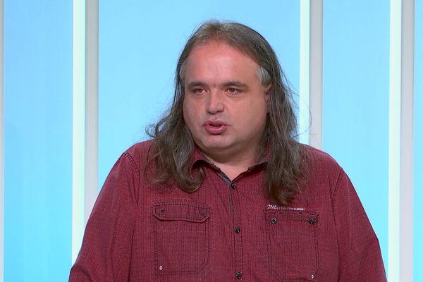 Guillaume Bertrand, l'un des sociétaires de la coopérative Railcoop à Limoges.