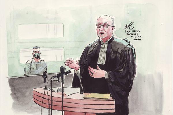 Maître Jakubowicz, l'avocat de Nordahl Lelandais, au moment de sa plaidoirie