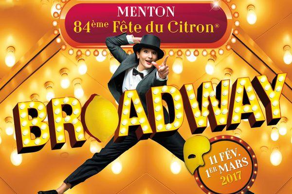 L'affiche de la 84ème fête du citron de Menton.