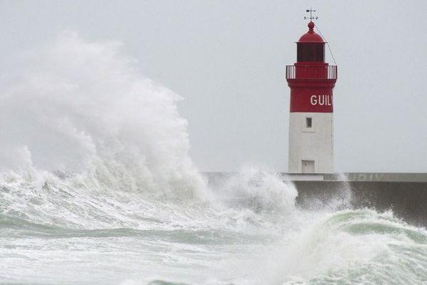La tempête Ulla au Guilvinec (29) le 15 février 2014