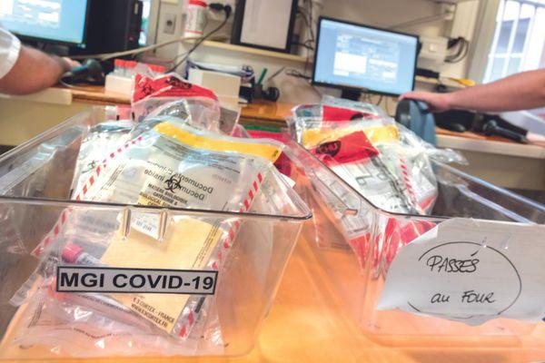 Tests Covid réalisés au laboratoire de virologie du CHU de Montpellier - 2021.