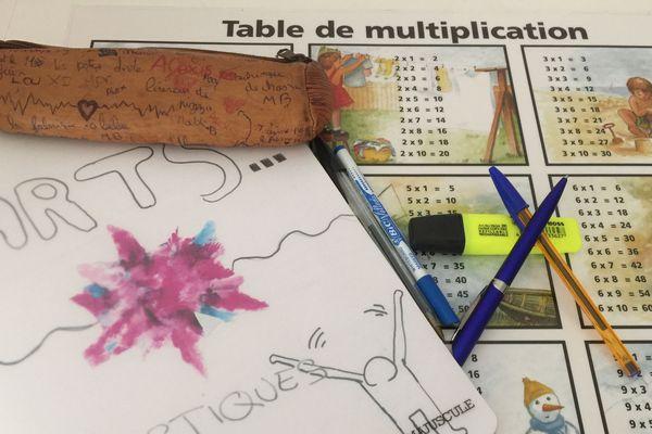 Le 22 juin, tout les élèves à l'école : il va falloir faire à nouveau les cartables.