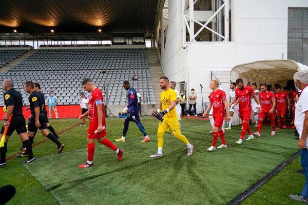 Les Crocos ont été battus par Marseille, à domicile, au stade des Costières, lors d'un match à huis clos. / 9 août 2020.