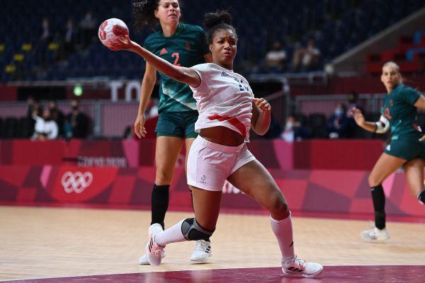 La handballeuse Pauletta Foppa, lors du match face à la Hongrie aux JO de Tokyo.