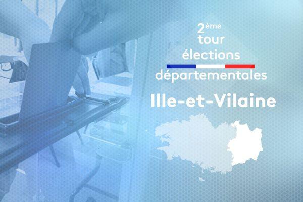 2ème tour des élections départementales 2021 en Ille-et-Vilaine
