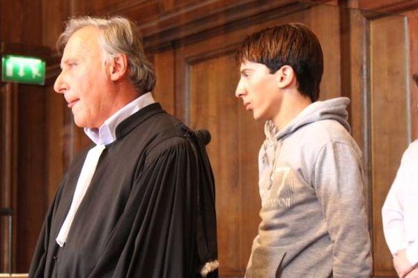 Yacine Sid juste après ses aveux devant la cour d'assises à Vesoul