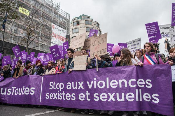 France / Ile-de-France / Paris - Manifestation contre les violences sexistes faites aux femmes, organisée a Paris le 24 Novembre 2018