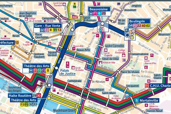 le réseau Astuce en centre ville