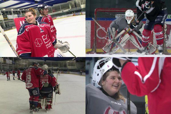 Charlotte Cagigos, 20 ans, est la gardienne remplaçante de l'équipe professionnelle de hockey de Caen