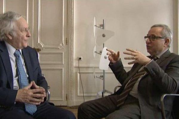 Claude Gewerc Président du Conseil régional Picardie et Daniel Percheron Président du Conseil régional Nord Pas-de-Calais