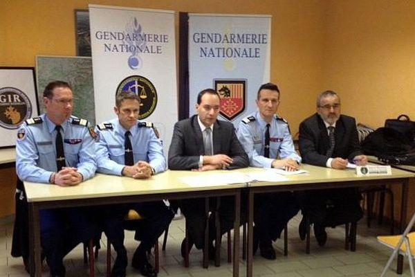 Alès (Gard) - l'affaire du démantèlement d'un réseau de trafic de machines à sous a nécessité 2 ans d'enquête - 11 février 2016.