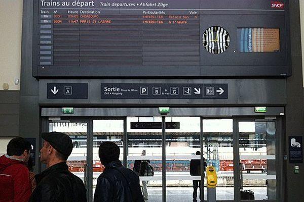 La gare de Caen ce jeudi 13 juin