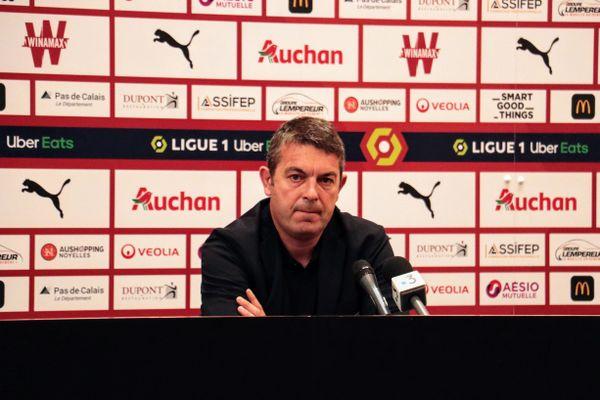 Arnaud Pouille, directeur général du RC Lens, ce vendredi 24 septembre 2021.