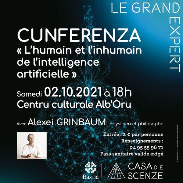 La conférence se tient le 2 octobre à 18 heures.