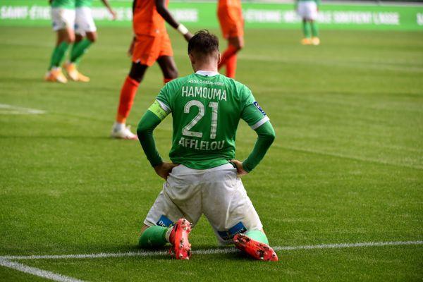 Les Verts sont en pleine crise après leur défaite, 1-0, à domicile face à Montpellier. 1er novembre 2020, 9e journée de championnat de Ligue 1 à Saint-Etienne.