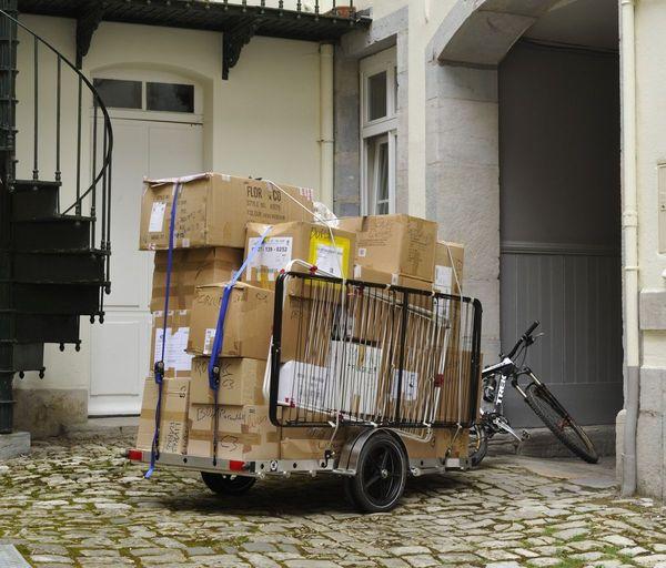 Impressionnant chargement pour un déménagement à Vélo à Besançon