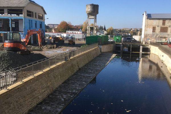 Les travaux du Port Boinot à Niort.