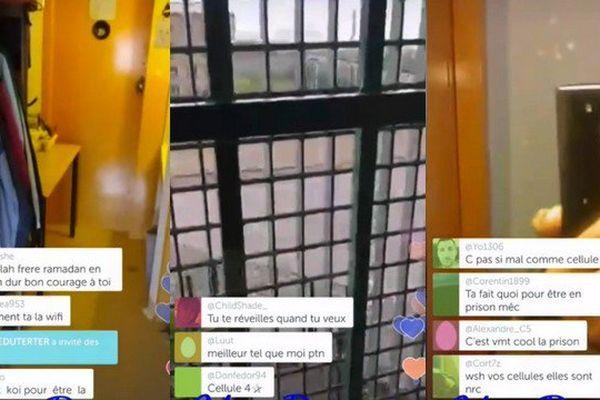 Images extraites de la vidéo diffusée sur Periscope.