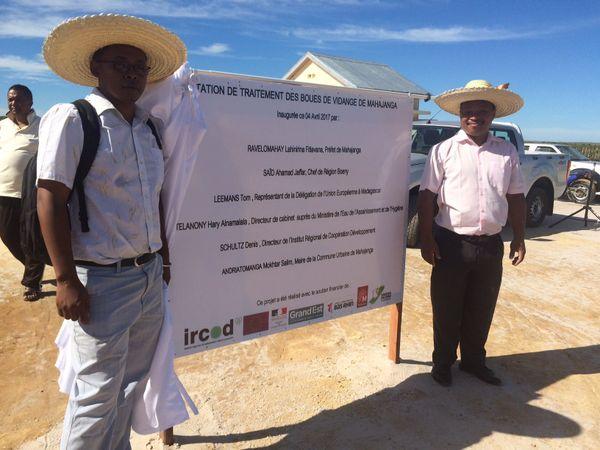 Inauguration de la station de traitement de boue à Majunga