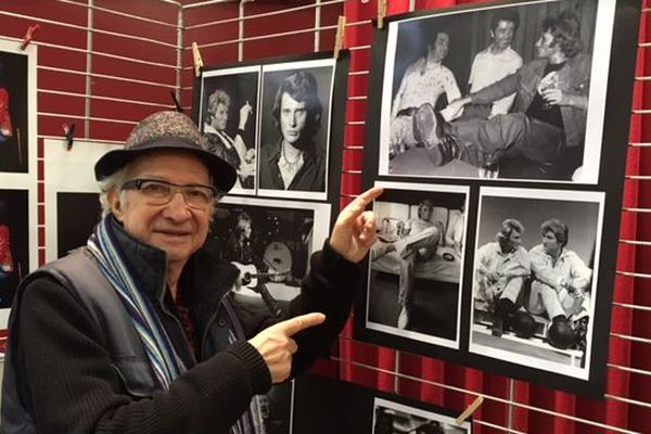 Le photographe Jean-Louis Rancurel à la foire du disque d'Amiens samedi 2 février 2019