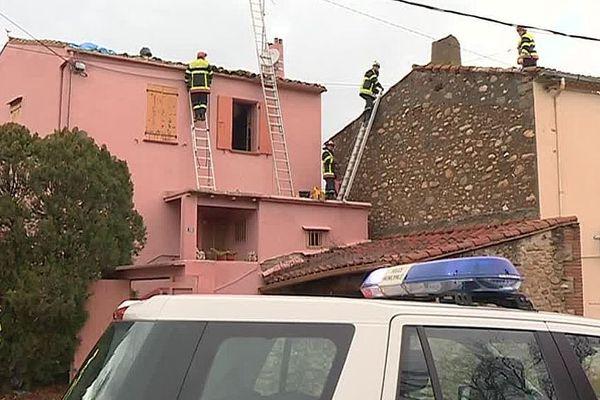 Maureillas-Las-Illas (Pyrénées-Orientales ) - les dégâts après le passage d'une mini-tornade - 7 janvier 2018.