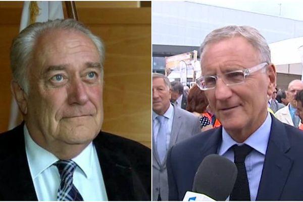 Jean-Paul Bachy, président de la Région Champagne-Ardenne / André Vallini, secrétaire d'Etat à la réforme territoriale.